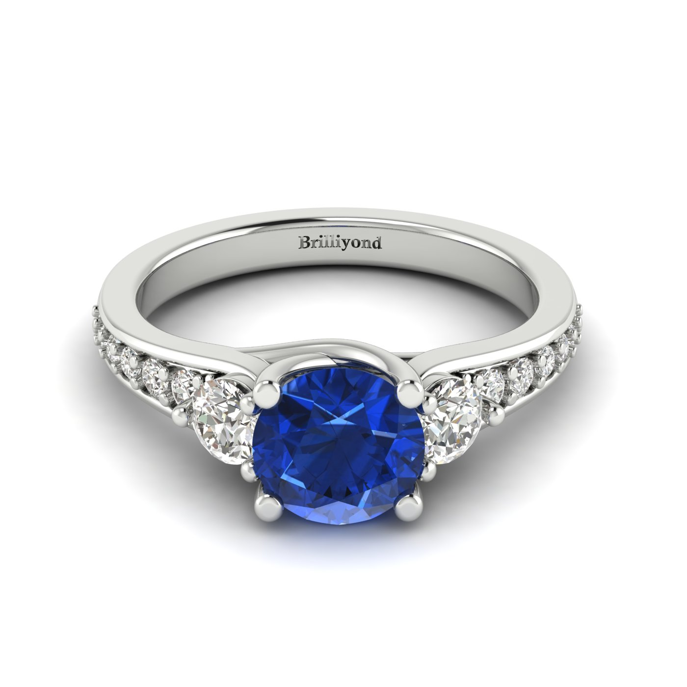Three Stone Engagement Ring Sorento_image1