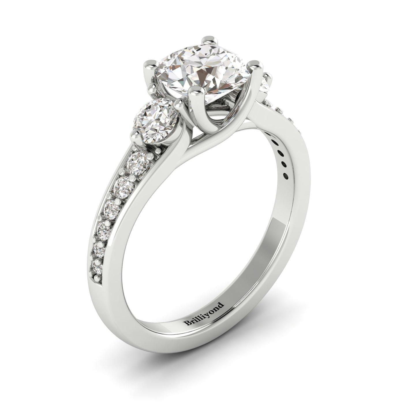 Diamond White Gold Three Stone Engagement Ring Sorento_image2