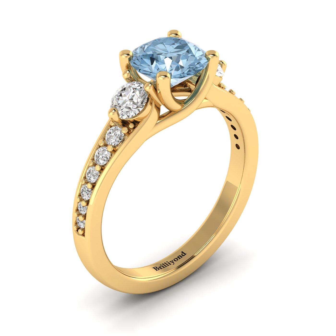 gift carat with aquamarine birthstone vintage filigree march anniversary gold setting unique engagement ring rings yellow media