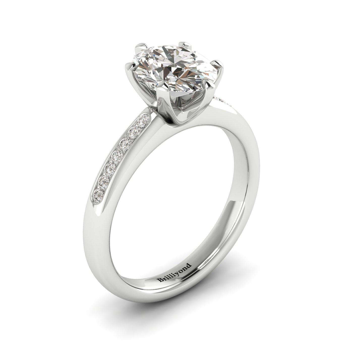 Diamond Platinum Oval Engagement Ring Nymph_image1