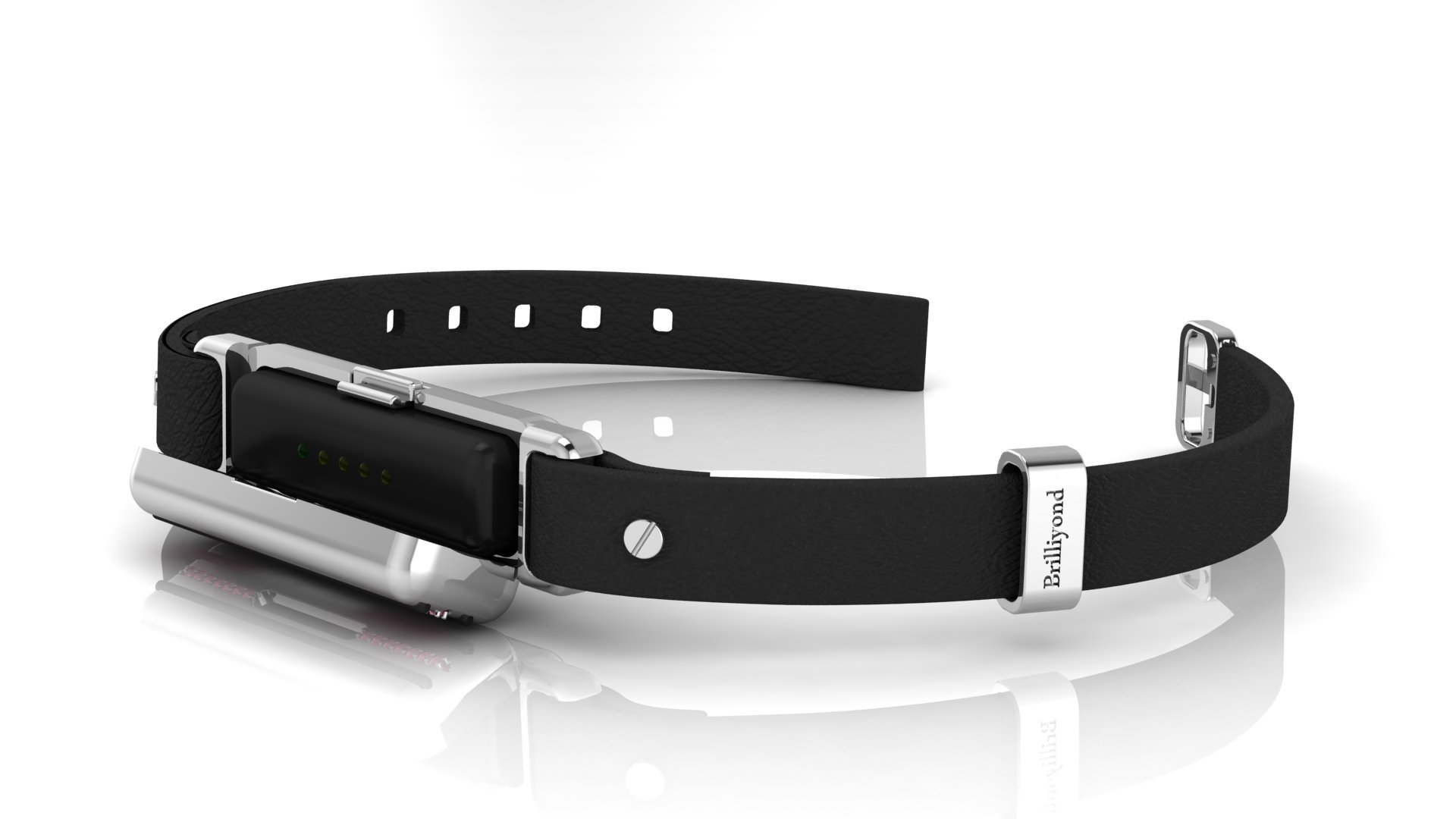 Brilliyond Smart Fitbit Bangle White Sapphire Panther_image3