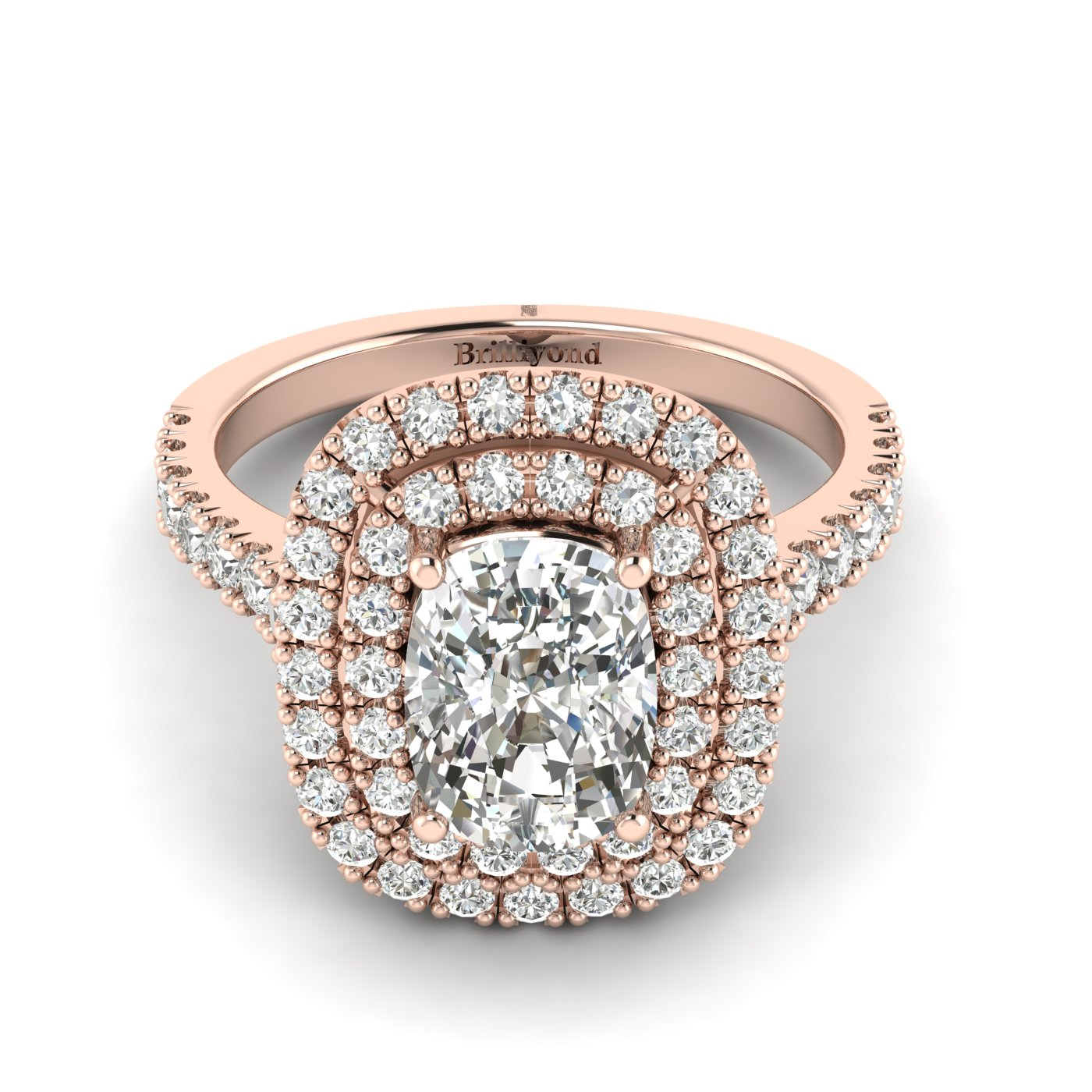 Diamond Rose Gold Halo Engagement Ring Corona_image2
