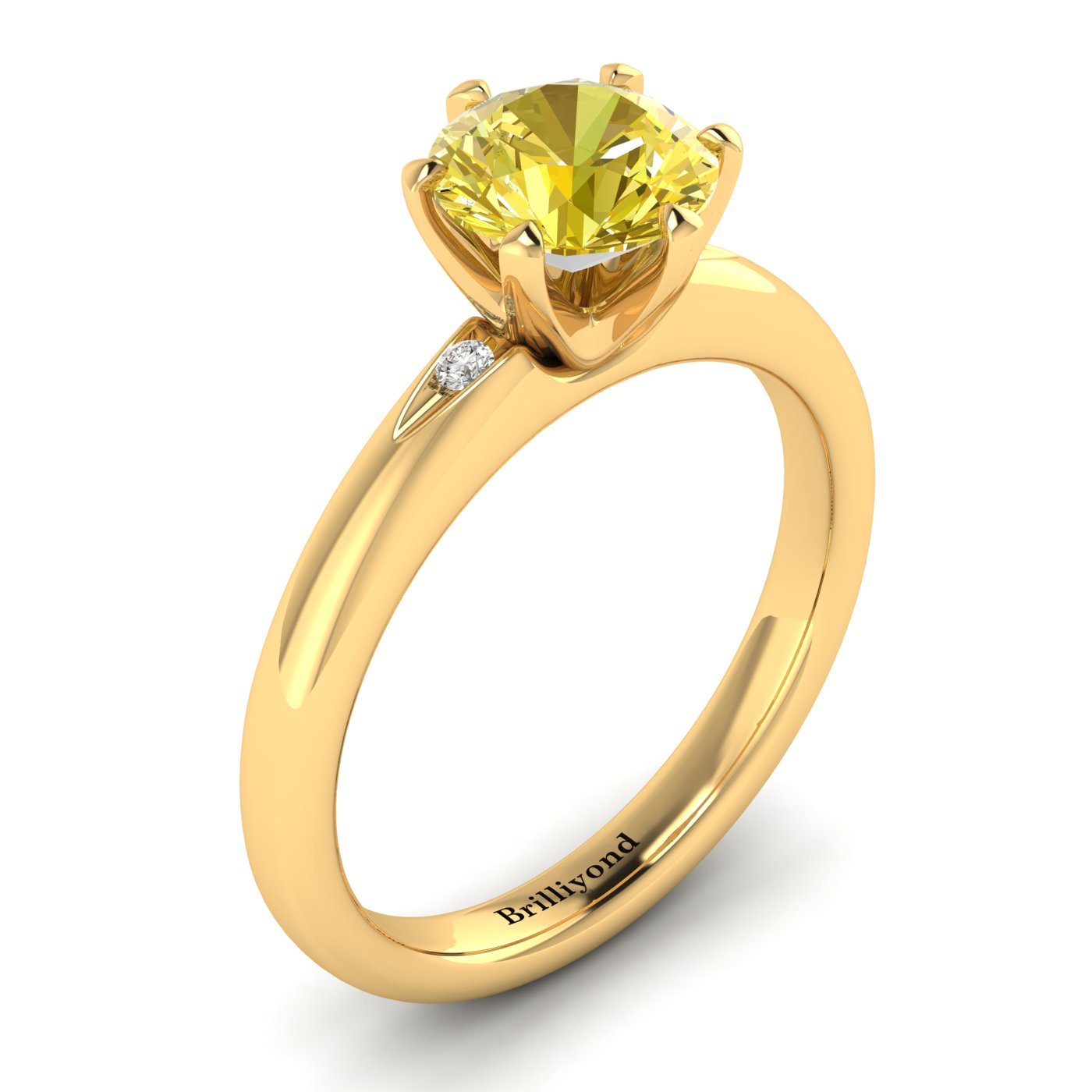 Yellow Sapphire Yellow Gold Solitaire Engagement Ring Byond_image2