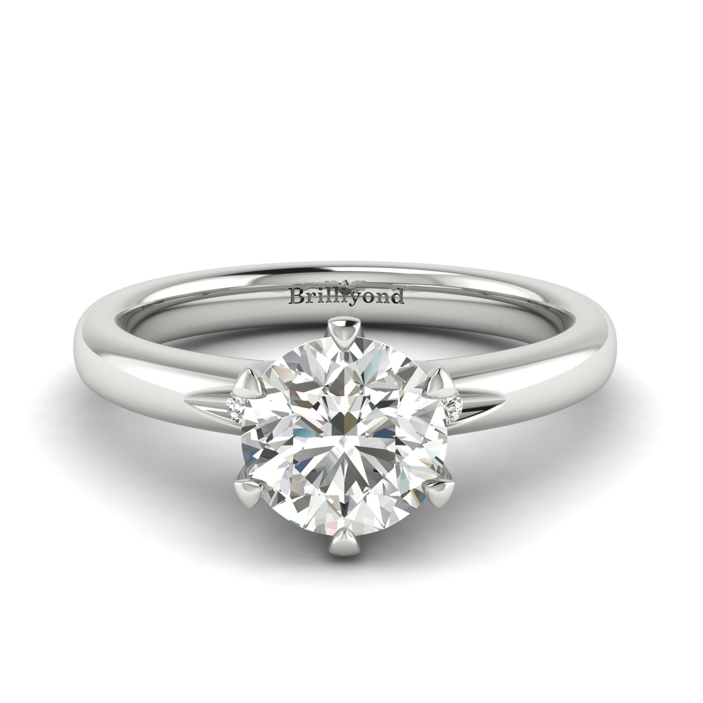 Diamond White Gold Solitaire Engagement Ring Byond_image2