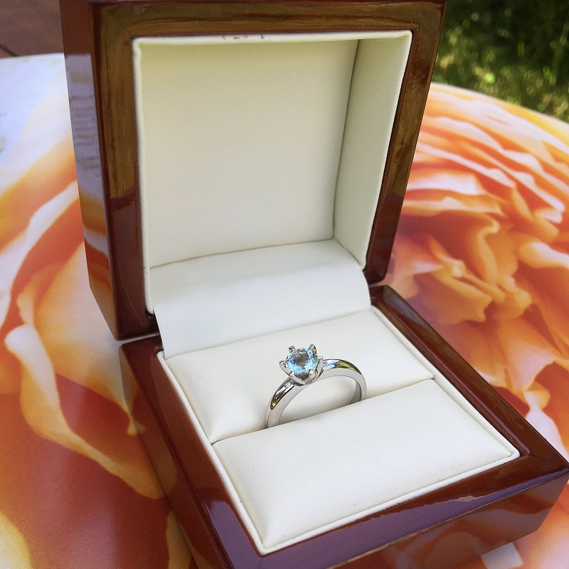 Aquamarine White Gold Solitaire Engagement Ring Byond_image3