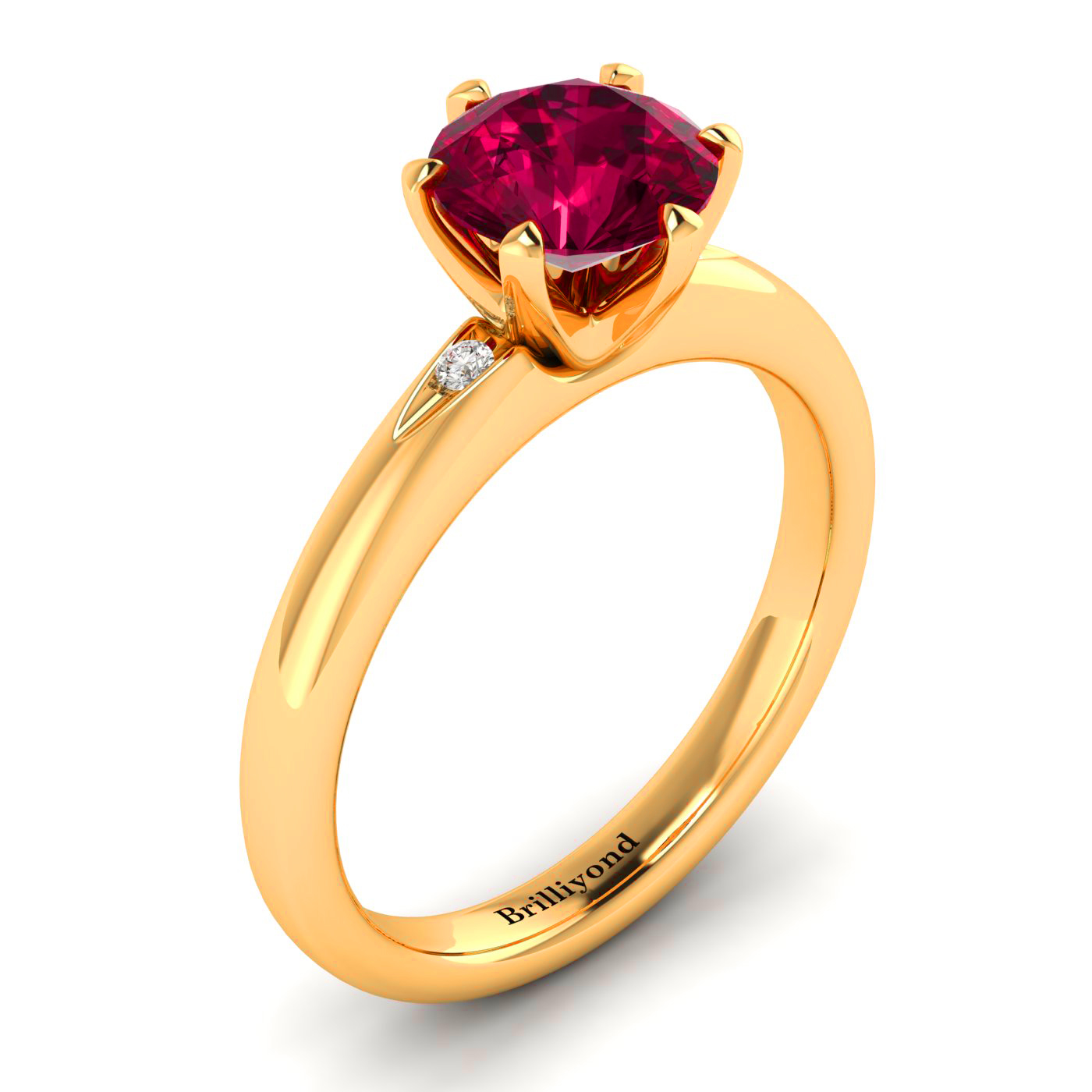 Solitaire Ruby Ring by Brilliyond Australia
