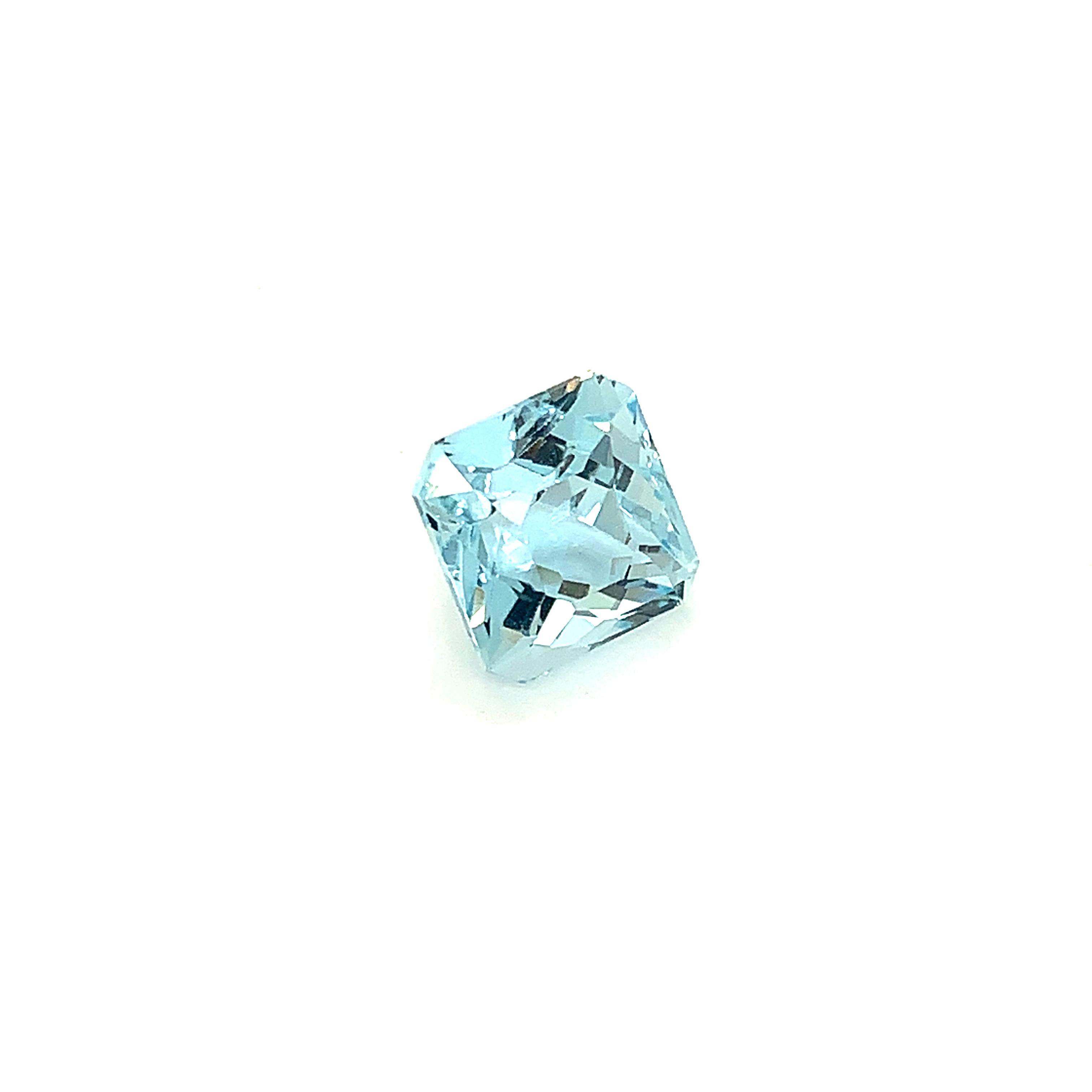 Cushion Cut Engagement Ring Arcadia Aquamarine Rose Gold   _image3