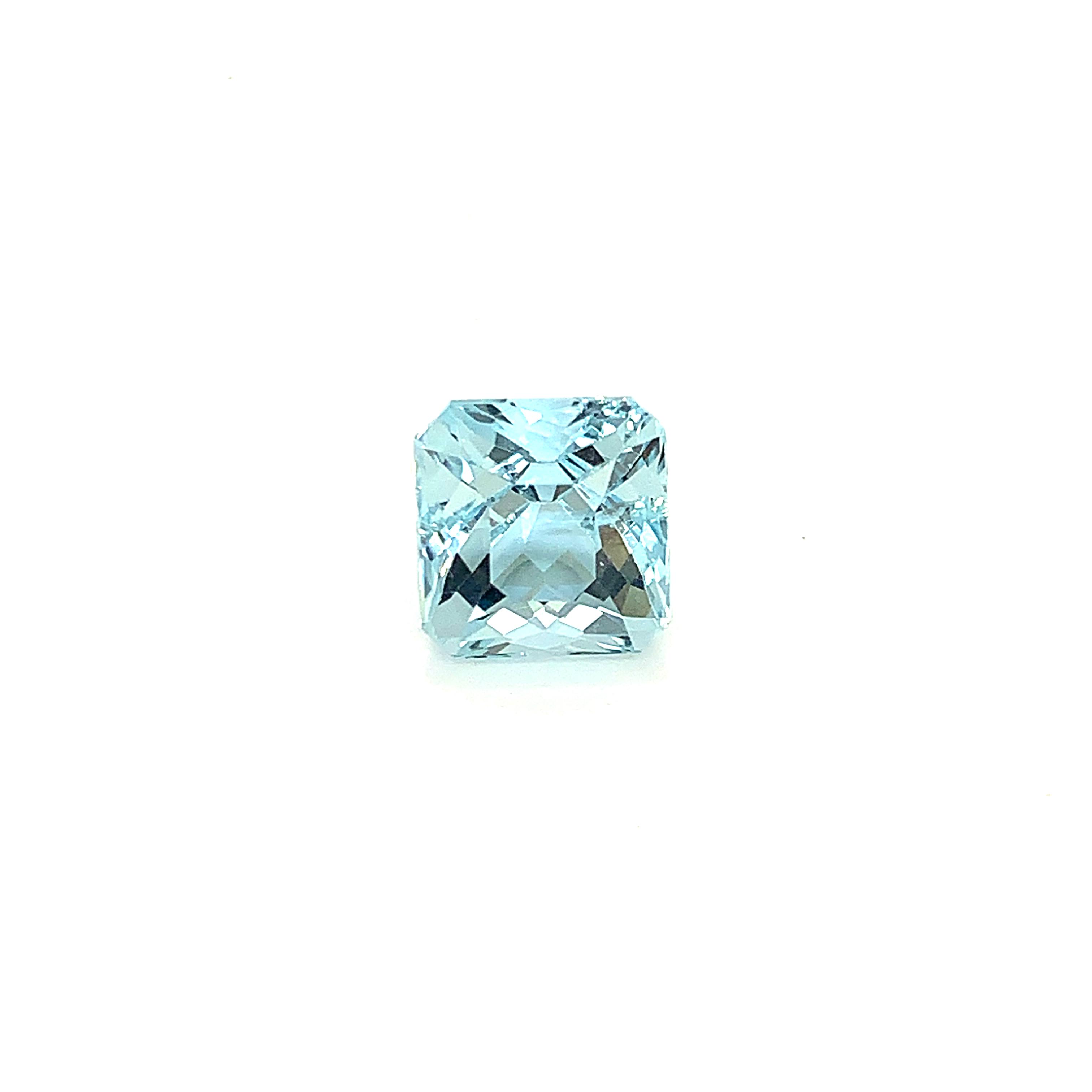 Cushion Cut Engagement Ring Arcadia Aquamarine Rose Gold   _image4