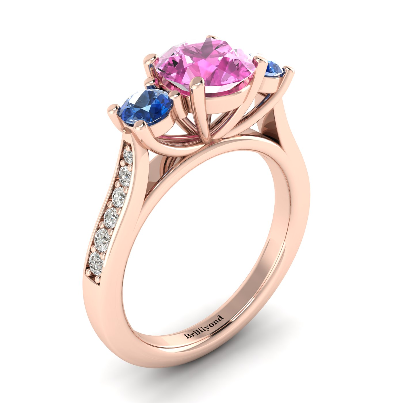Colour Accented Engagement Ring Paradise_image1