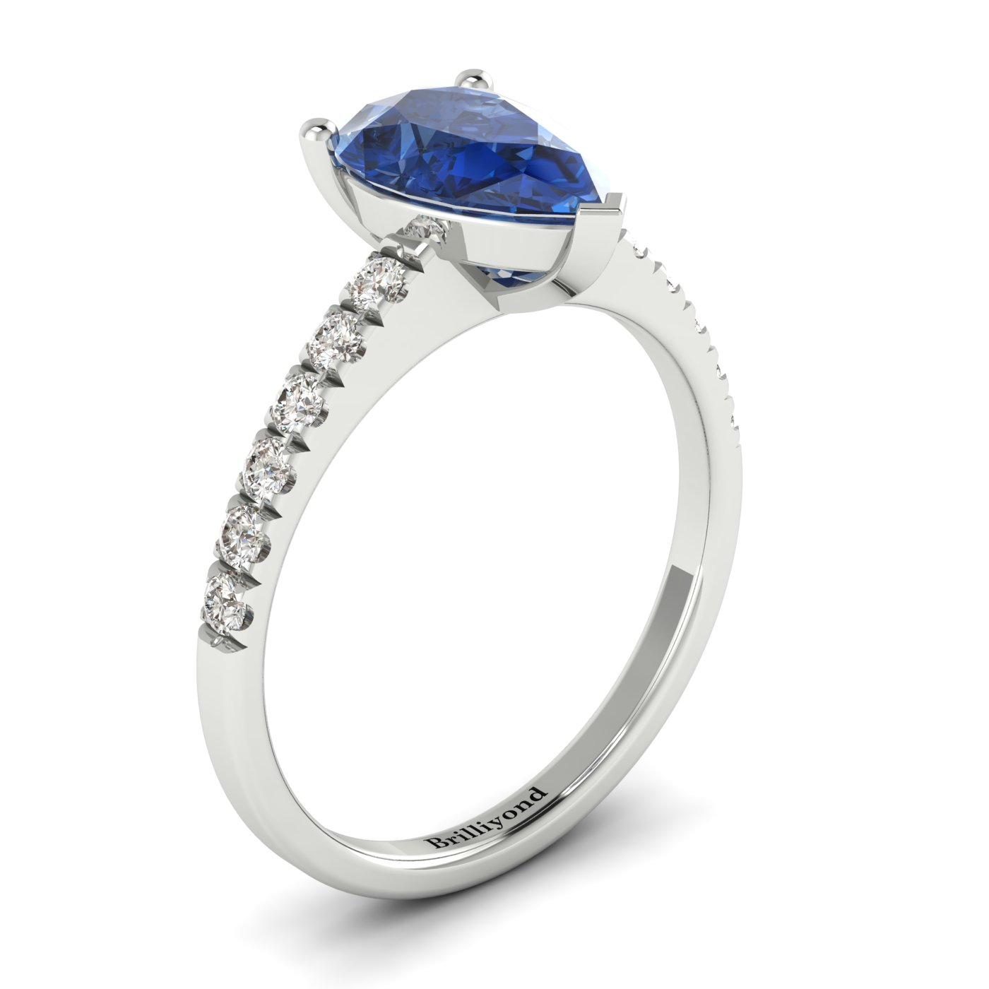 engagement deco platinum solitaire antique vintage ring sapphire