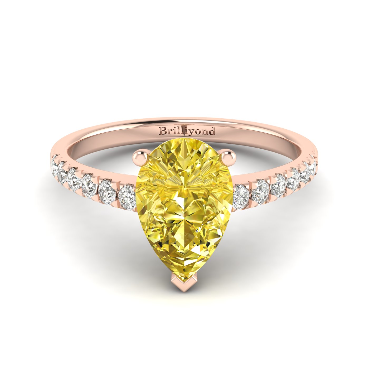 Yellow Sapphire Rose Gold Solitaire Engagement Ring Hera_image1