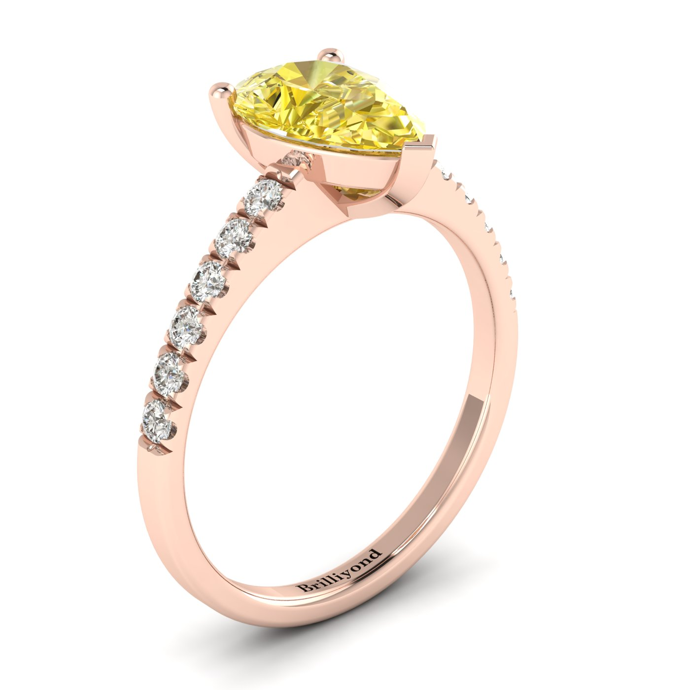 Yellow Sapphire Rose Gold Solitaire Engagement Ring Hera_image2