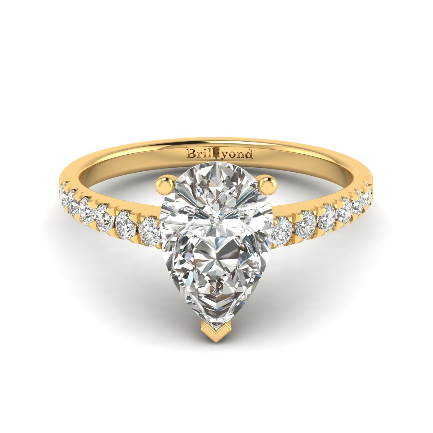 Diamond Yellow Gold Solitaire Engagement Ring Hera_image2