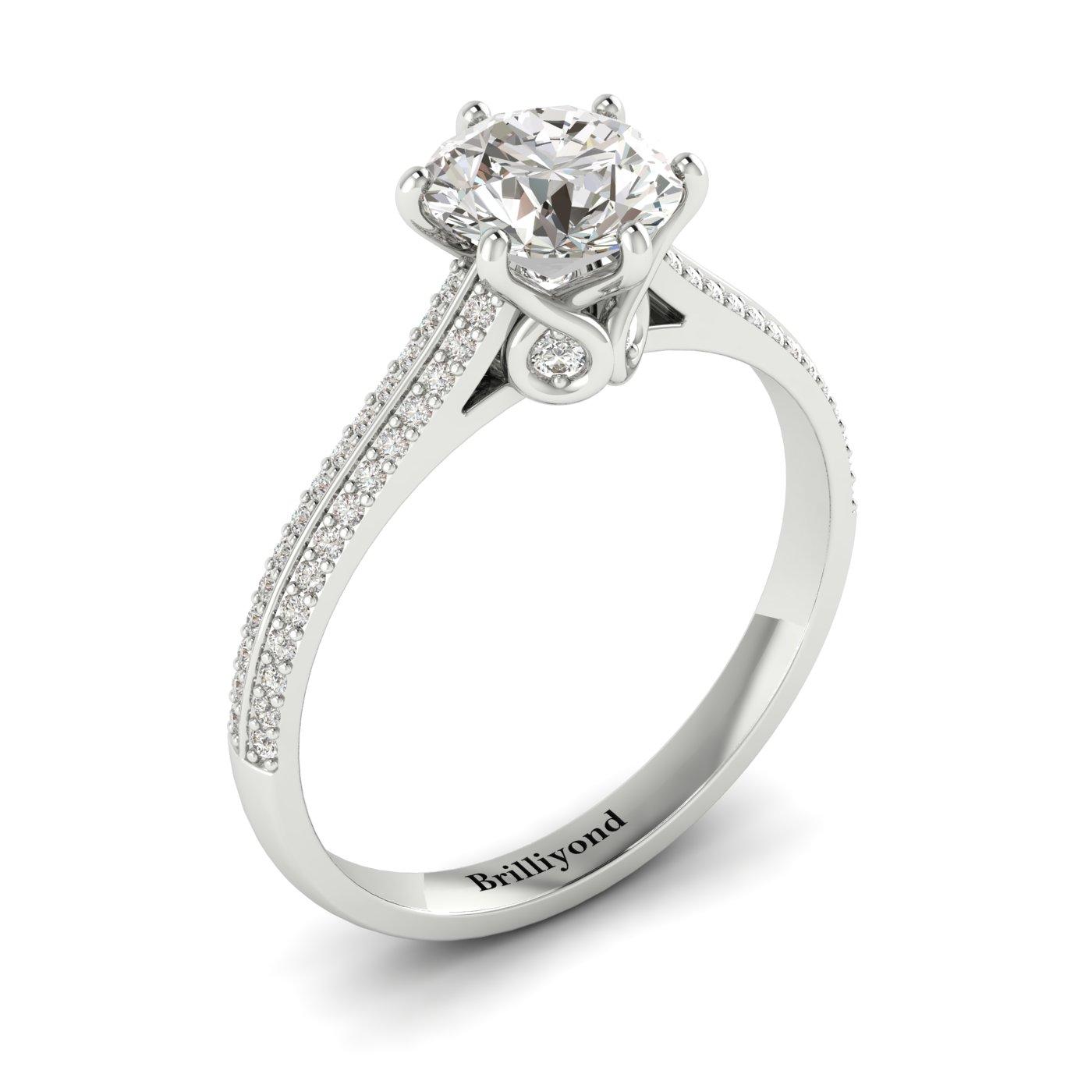 Diamond White Gold Round Engagement Ring Theia_image1