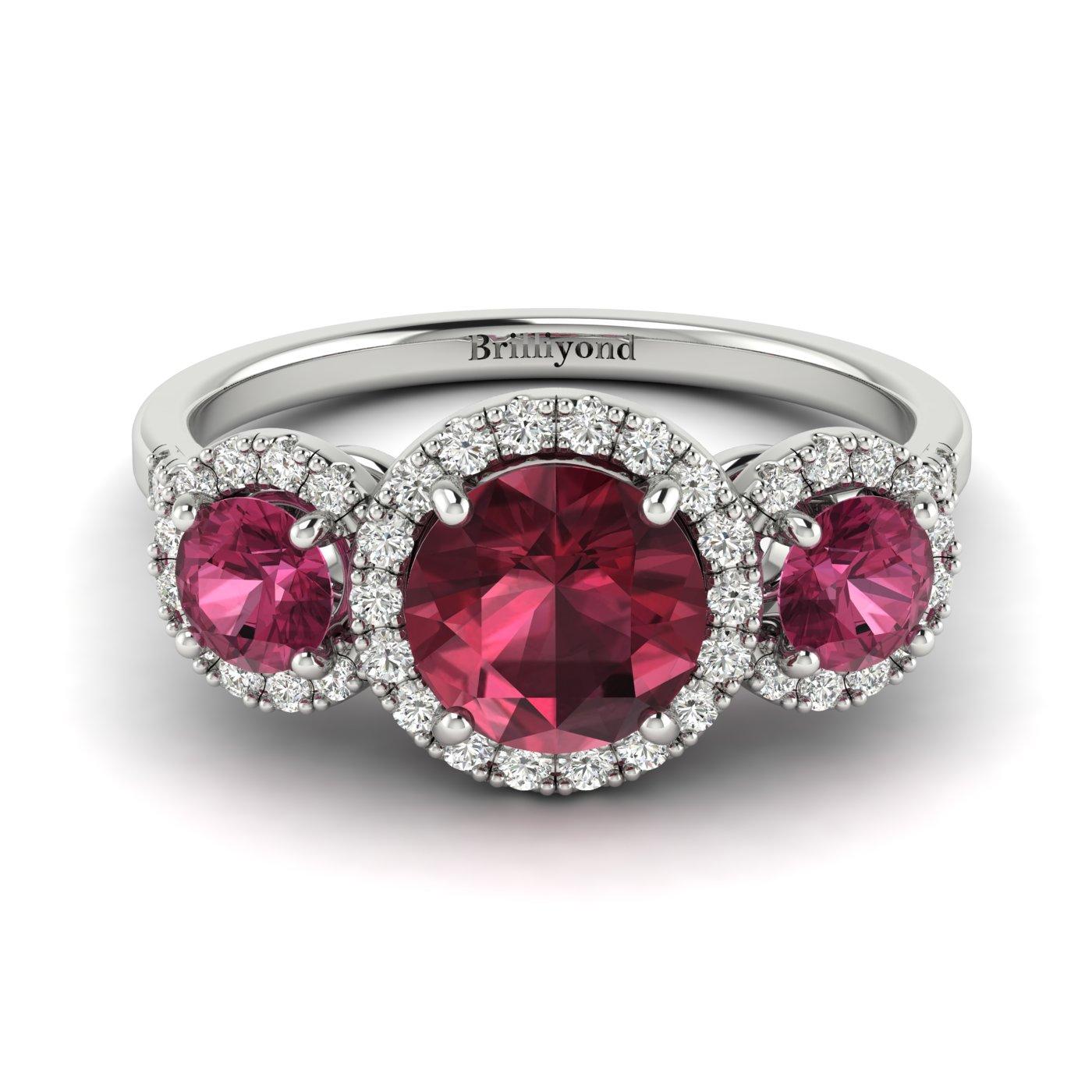 Three Stone Engagement Ring Springtime_image2