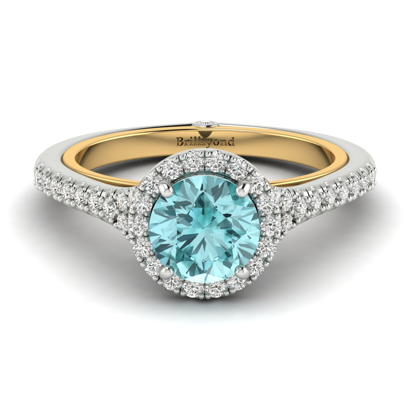 Two Tone Engagement Ring Regal_image1