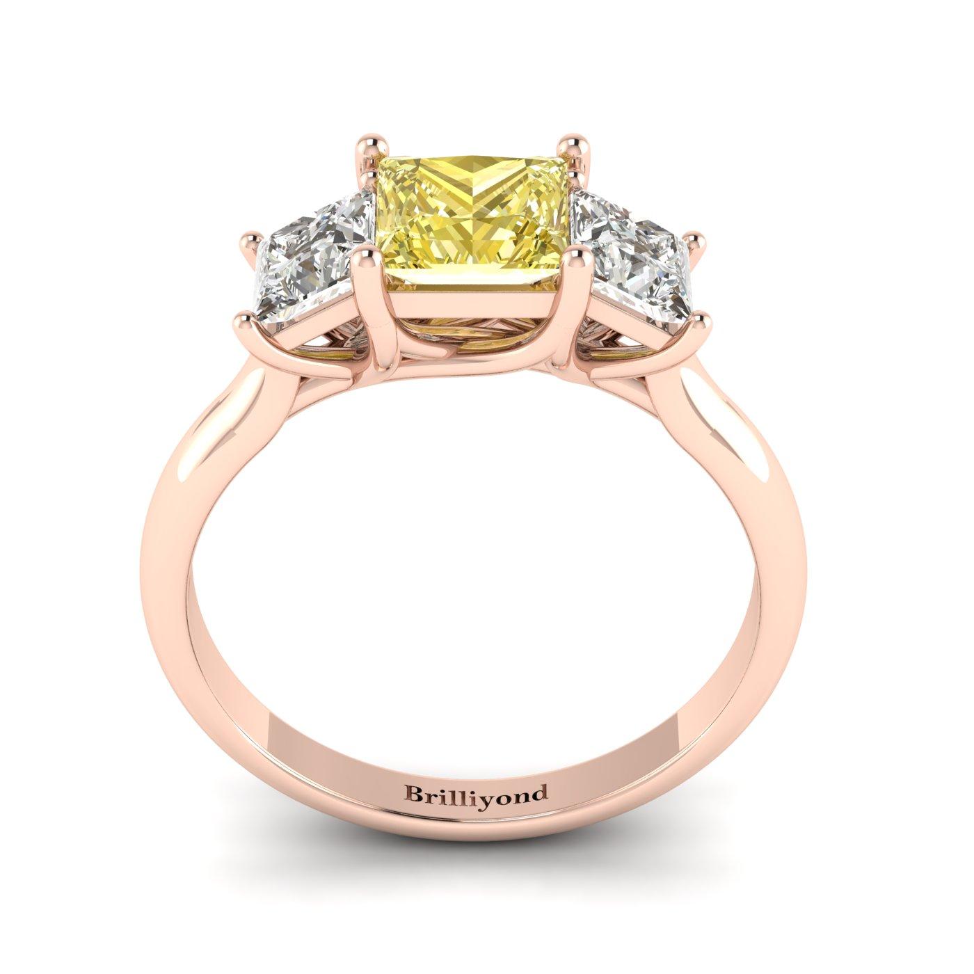 Yellow Sapphire Rose Gold Princess Cut Engagement Ring Capri_image2