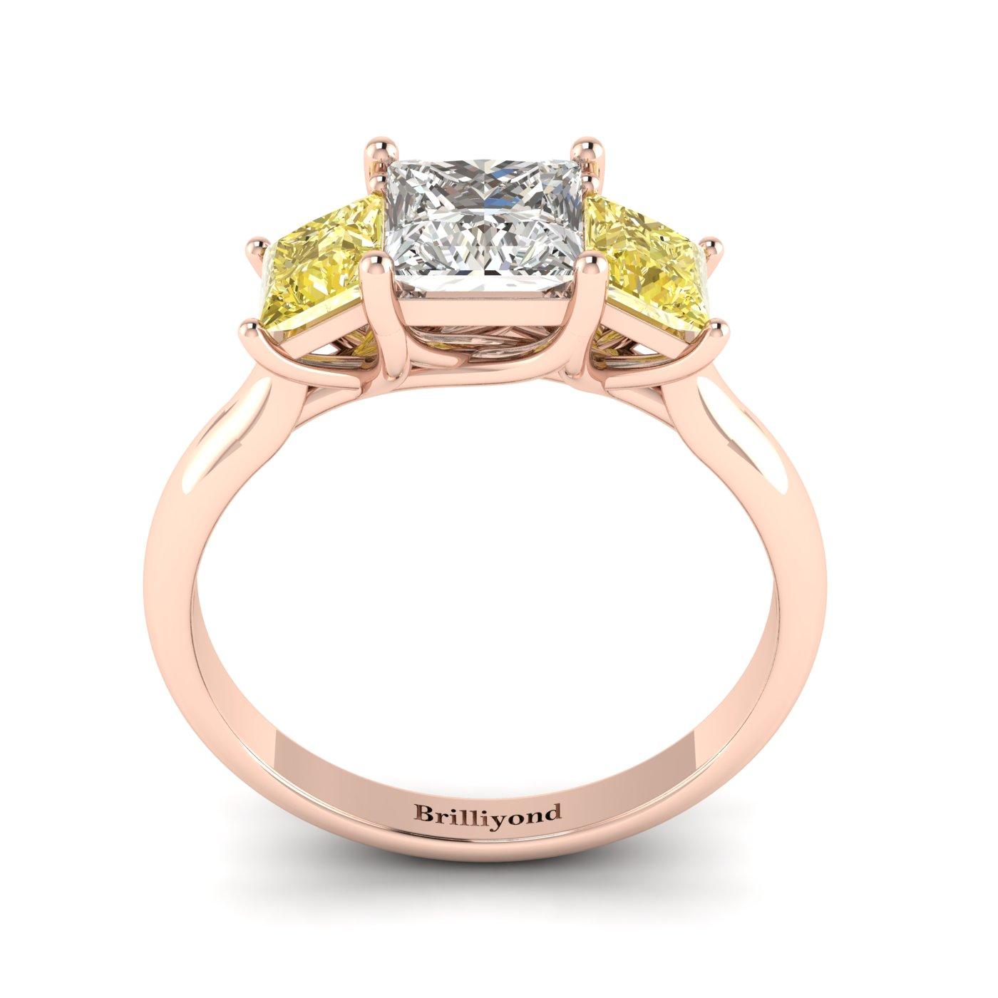 Diamond Rose Gold Princess Cut Engagement Ring Capri_image1