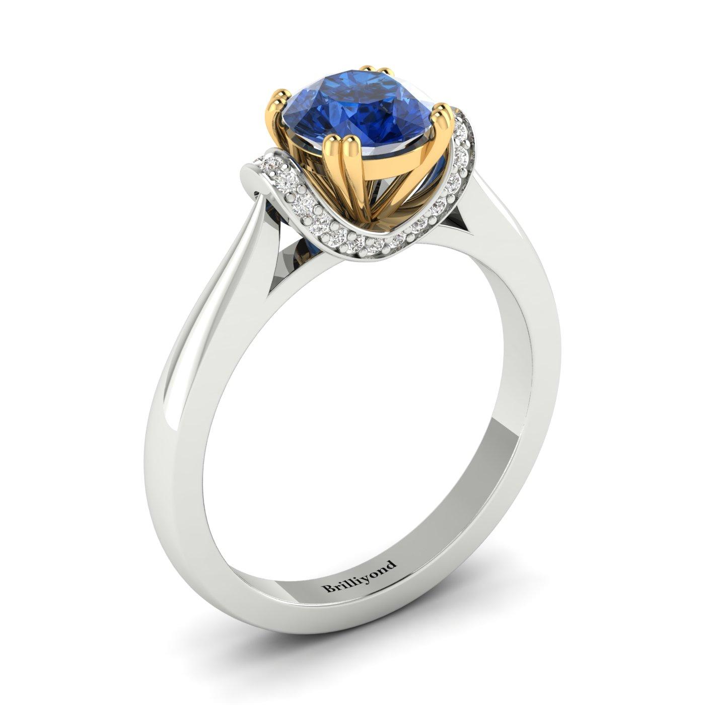 Two Tone Engagement Ring Passiflora_image1