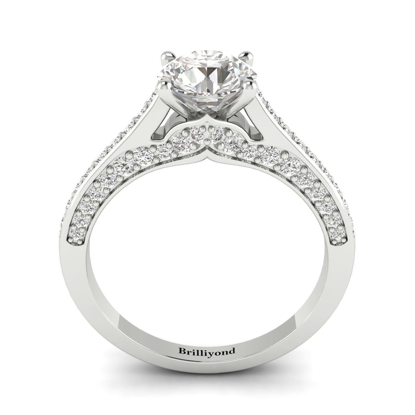 White Sapphire White Gold Brilliant Cut Engagement Ring Stargate_image2