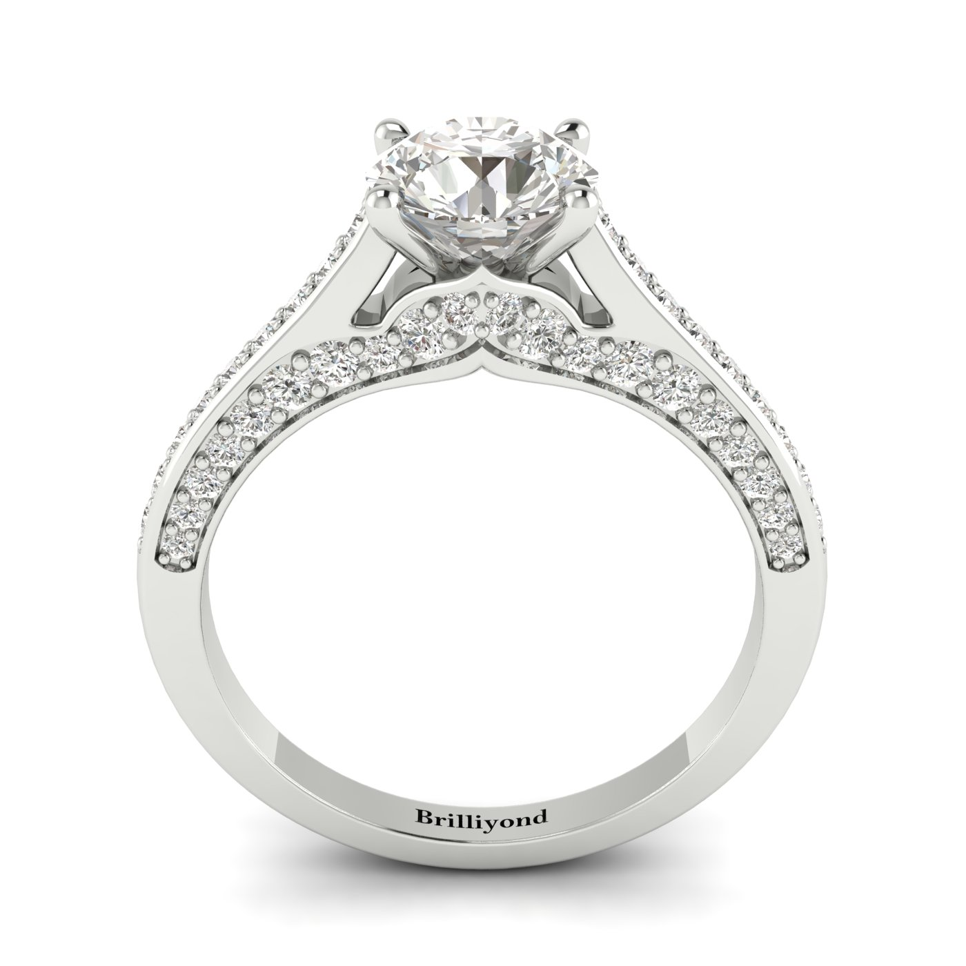Diamond White Gold Brilliant Cut Engagement Ring Stargate_image1