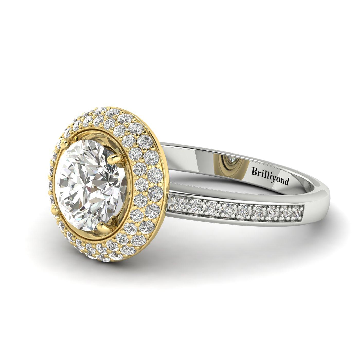 Halo Engagement Ring Aura