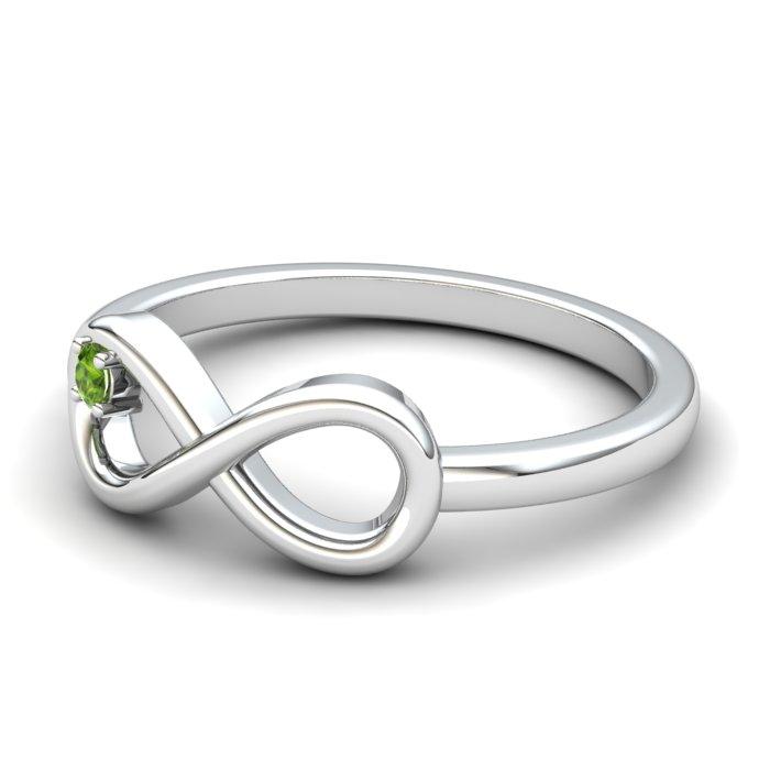 Peridot White Gold Infinity Ring_image2