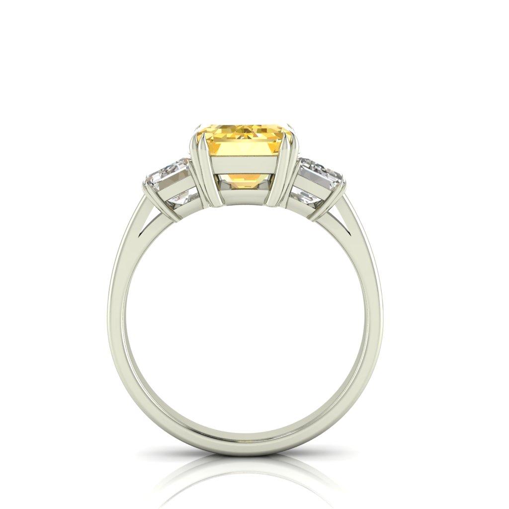 Yellow Sapphire Emerald Cut Engagement Ring_image3