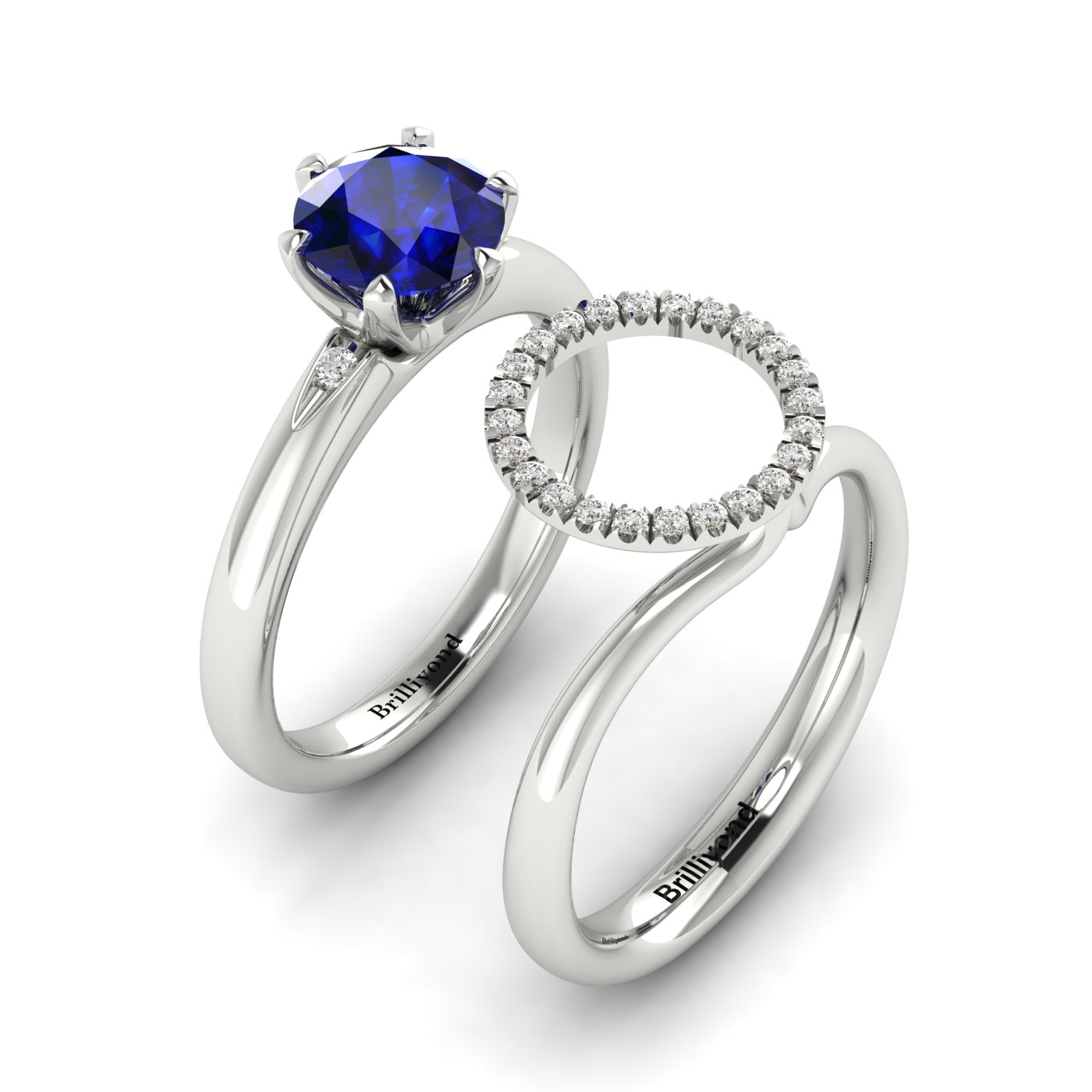 Cubic Zirconia Halo Ring Guard Enhancer Byond_image3