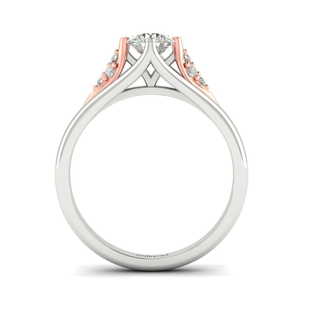 Diamond Vintage Engagement Ring Sutherland in Platinum _image3