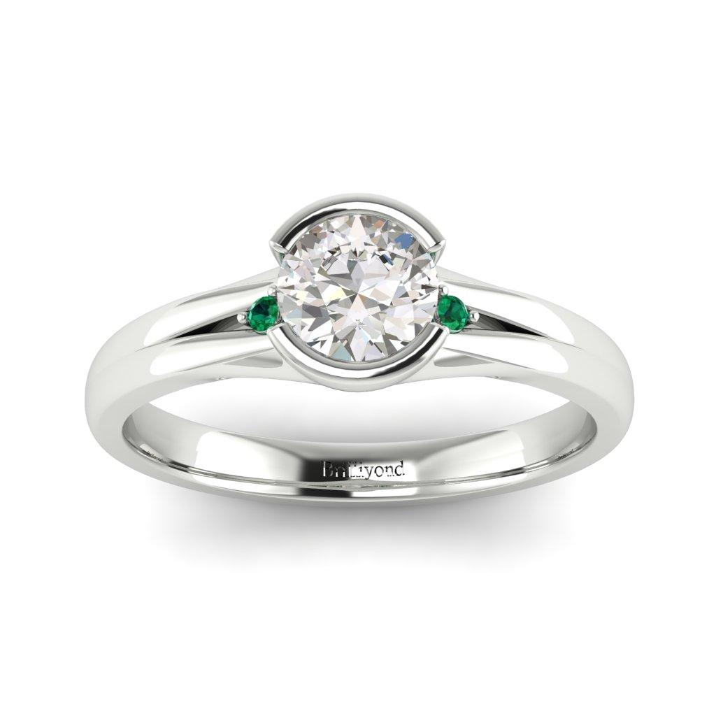 Diamond Bezel Engagement Ring Pacific in Platinum _image4