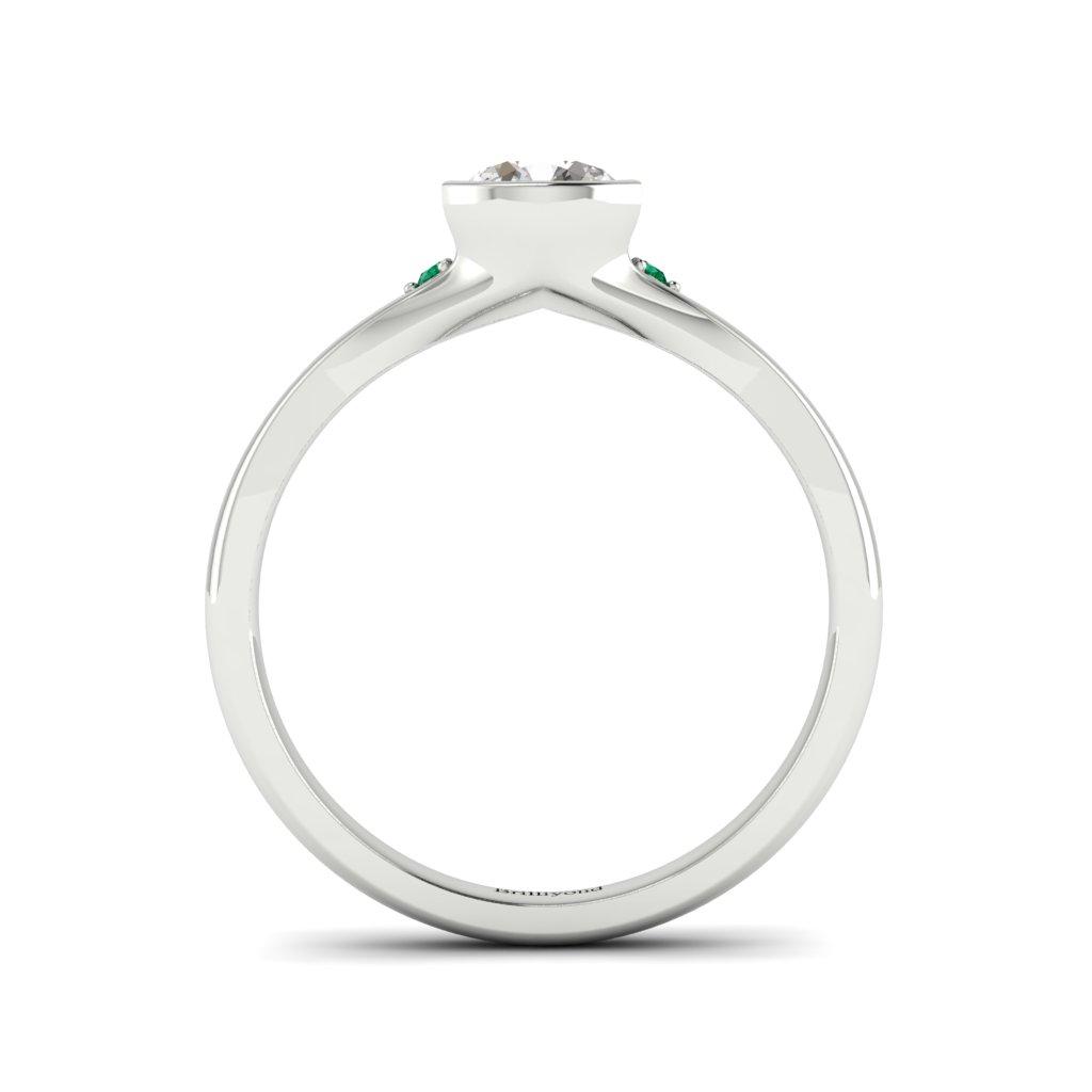 Diamond Bezel Engagement Ring Pacific in Platinum _image5