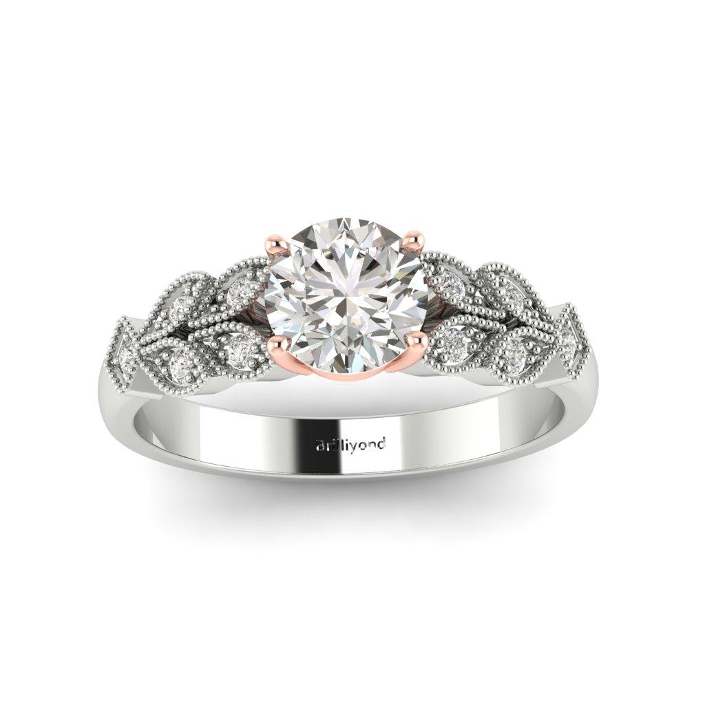 Victorian Diamond Engagement Ring Corsage in Platinum _image3