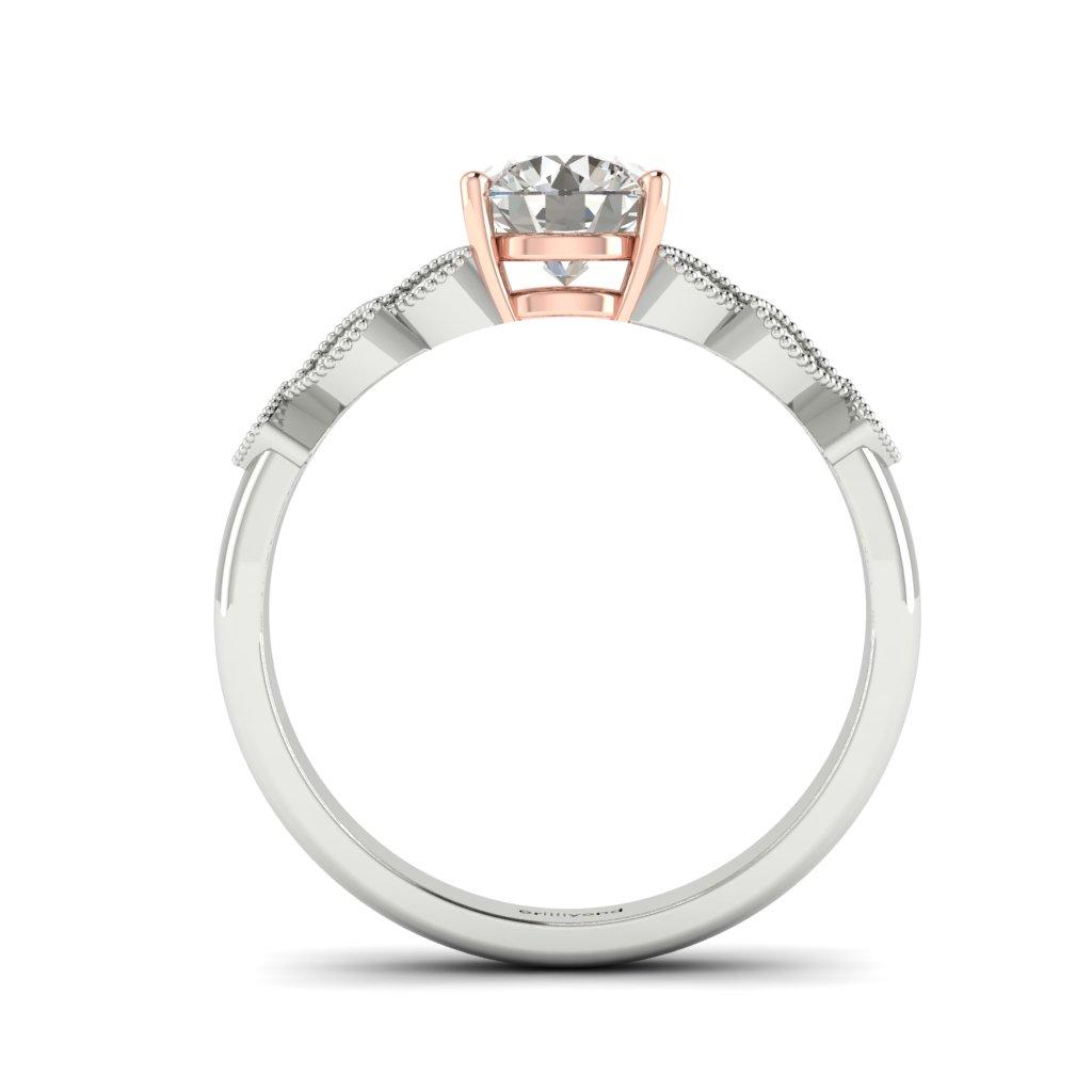 Victorian Diamond Engagement Ring Corsage in Platinum _image4