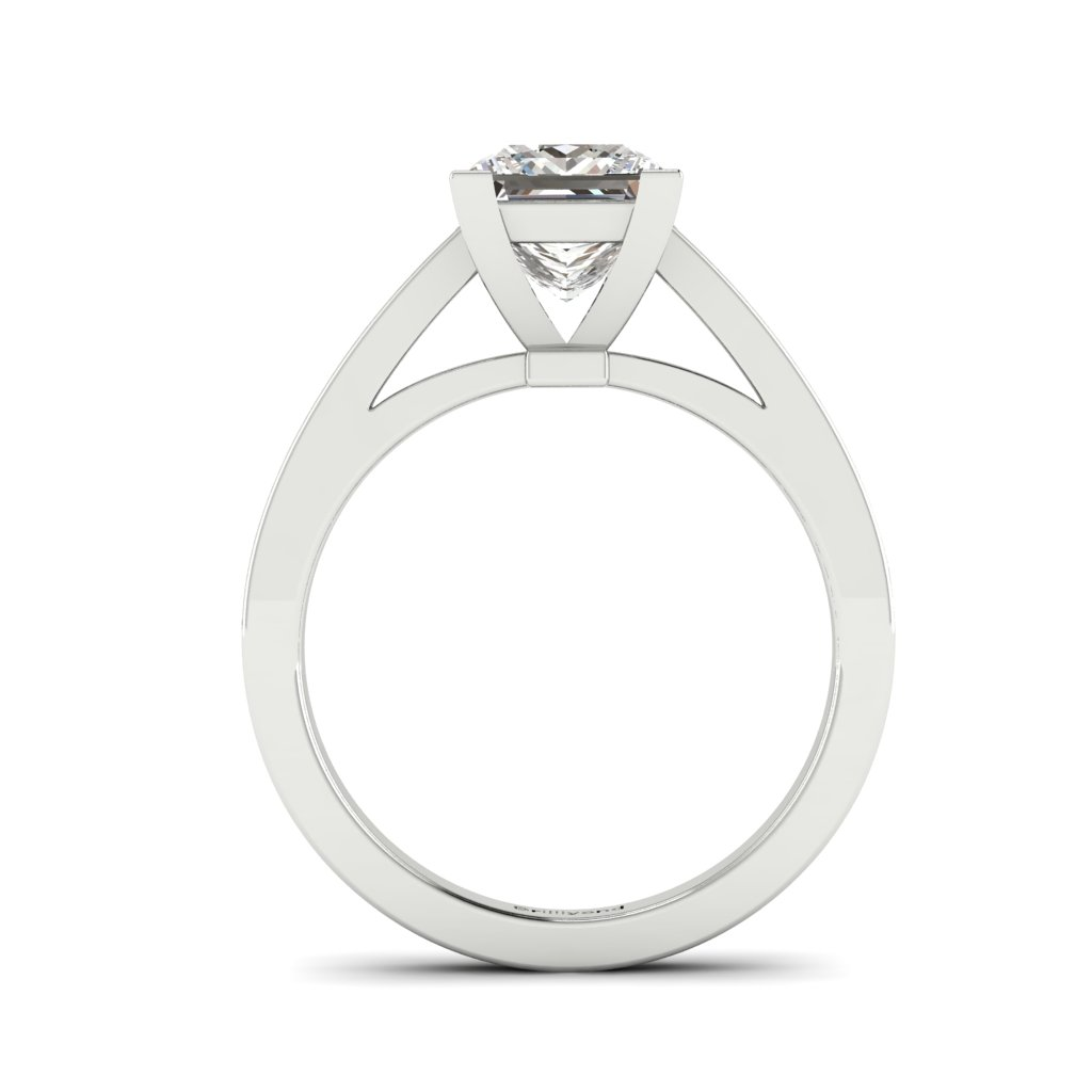 Princess cut Diamond Engagement Ring Volga in Platinum _image3