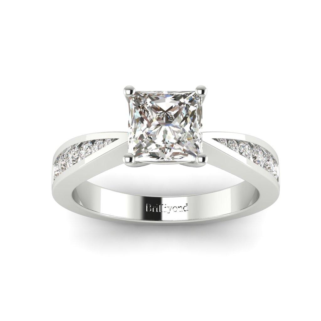 Princess cut Diamond Engagement Ring Vanessa in Platinum _image4