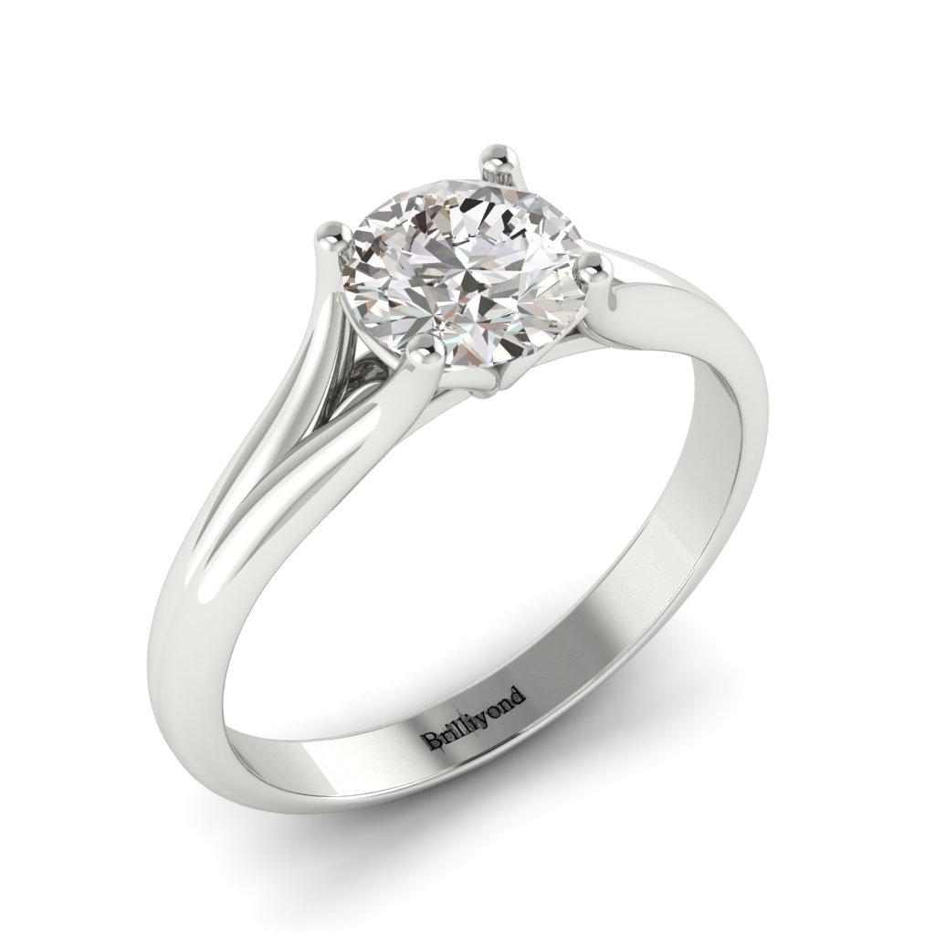 Diamond Solitaire Engagement Ring Preen in Platinum _image3