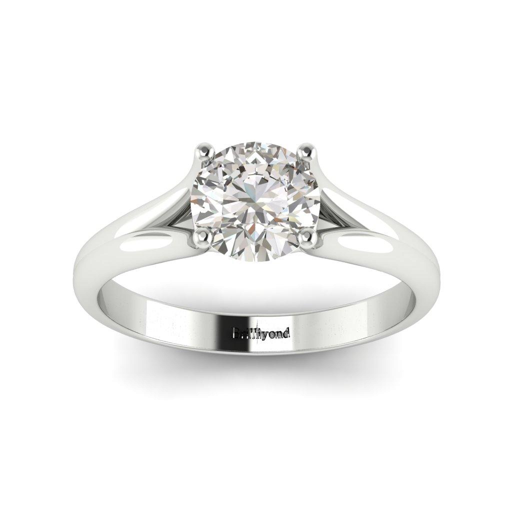 Diamond Solitaire Engagement Ring Preen in Platinum _image4