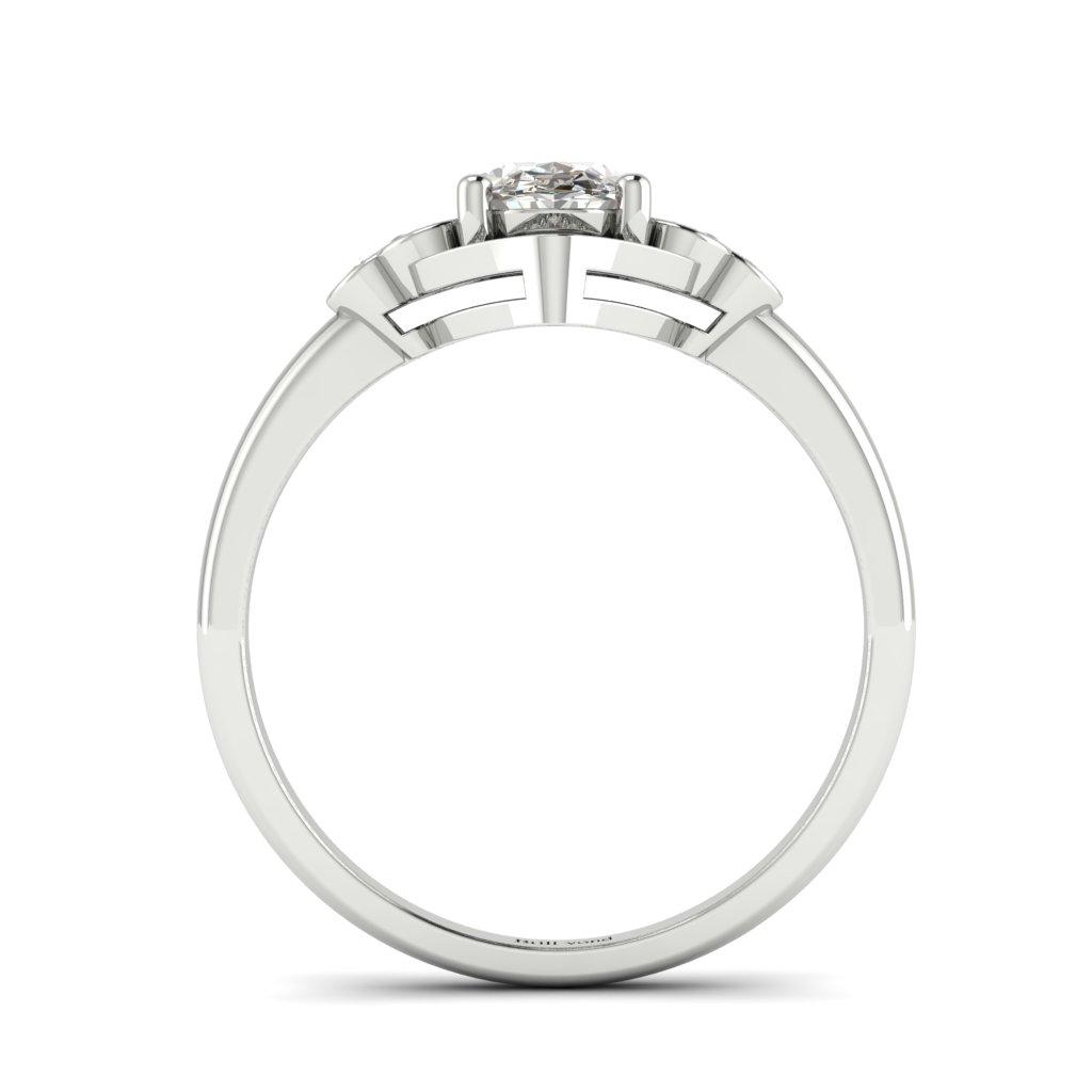 Vintage Diamond Engagement Ring Viola in Platinum