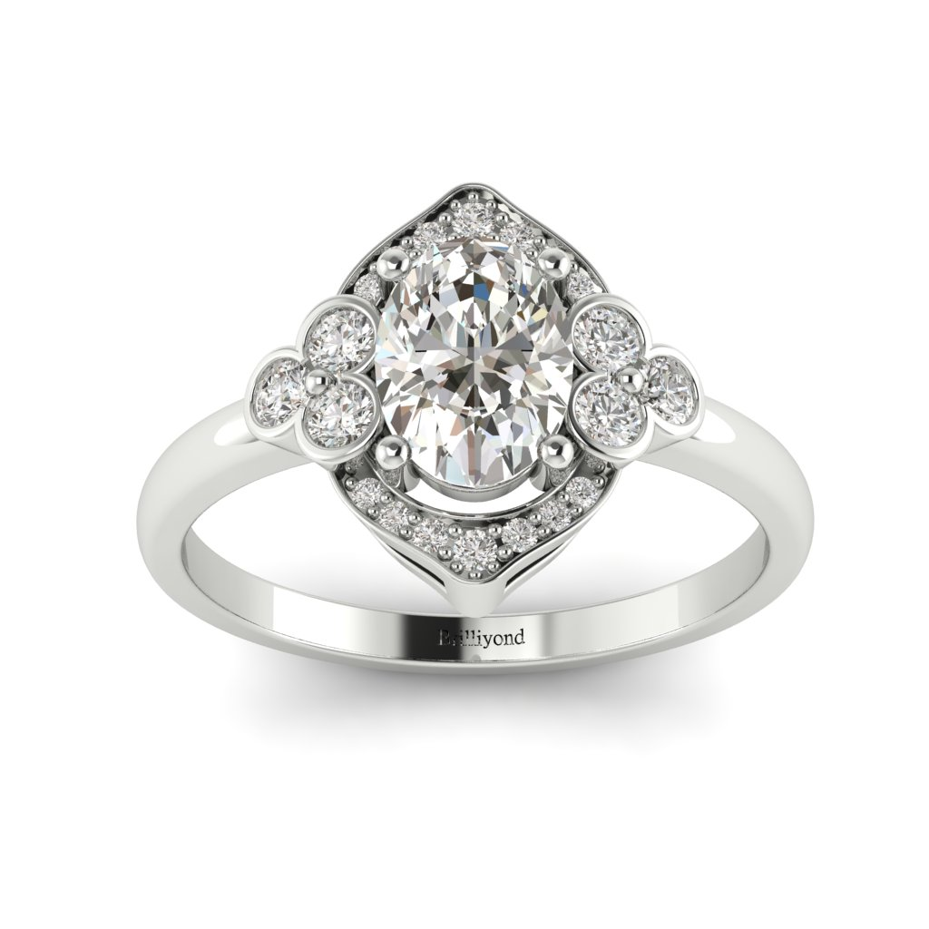 Vintage Diamond Engagement Ring Viola in Platinum _image3