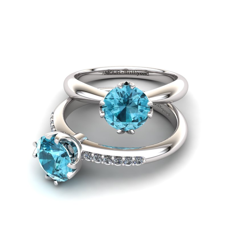 Queen of Night Solitaire Ring_image2