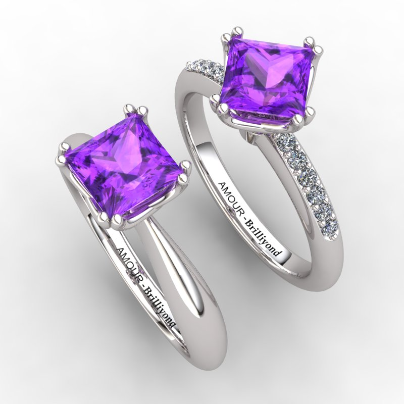 Braid Square Solitaire Ring_image3