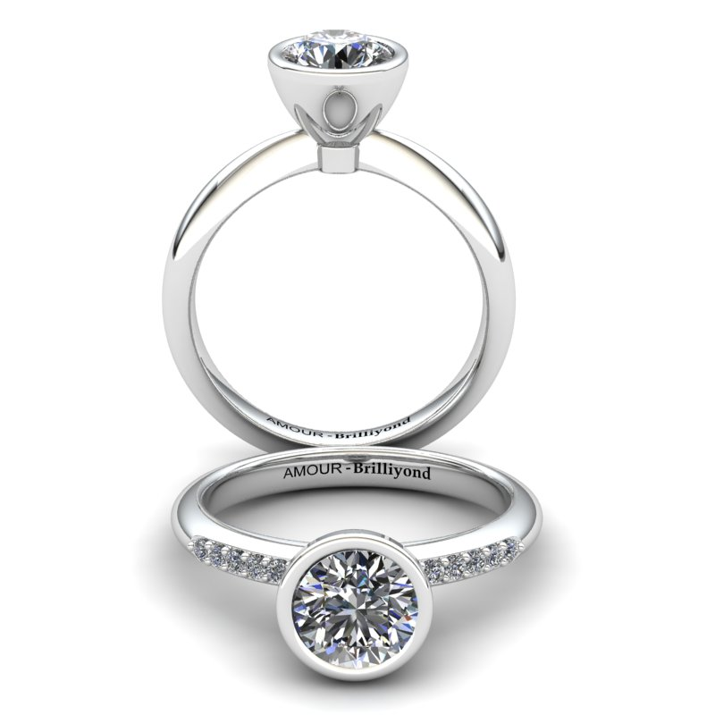 Imperial Cone Solitaire Ring_image2