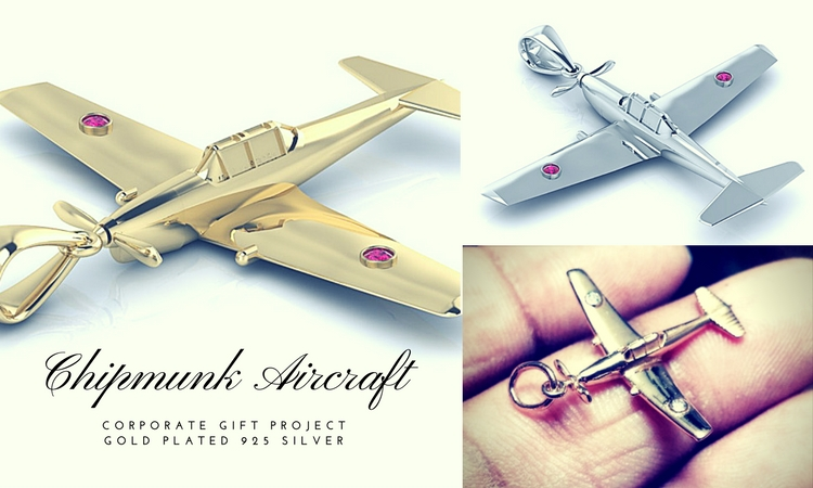 Concept to Completion - Chipmunk Aircraft Necklace