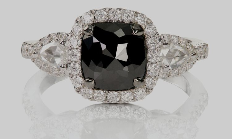 The unconventional black diamonds are perfect representation of confidence and dominance personality