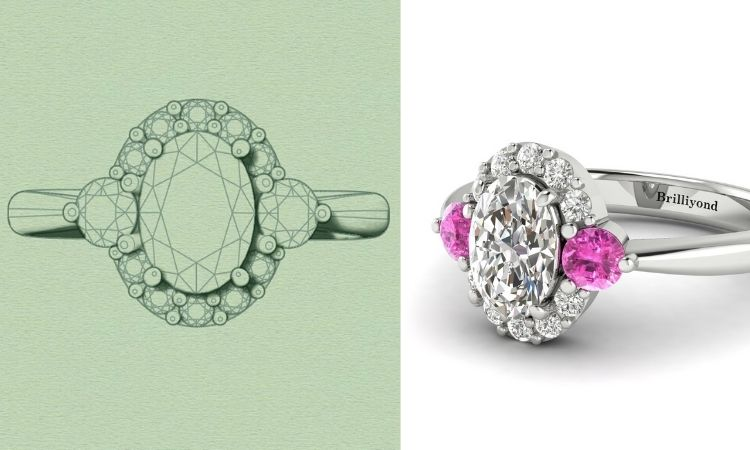 Colour Accented Engagement Rings