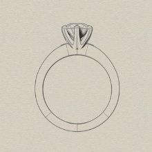 Engagement ring styles - solitaire