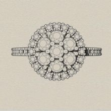 Engagement ring styles - cluster
