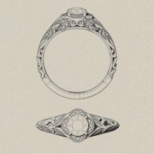Engagement ring styles - vintage