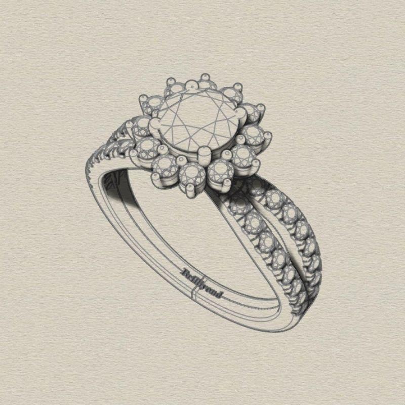 Engagement ring styles - split shank